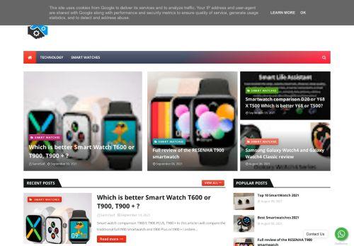 لقطة شاشة لموقع Smartwatch بتاريخ 16/09/2021 بواسطة دليل مواقع آوليستس